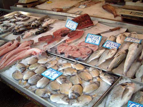 Corfu greece for Fish market prices